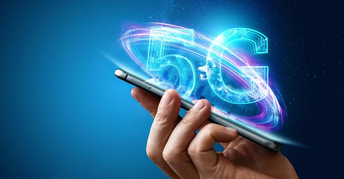 imagem de telefone com solução de tecnologia 5G