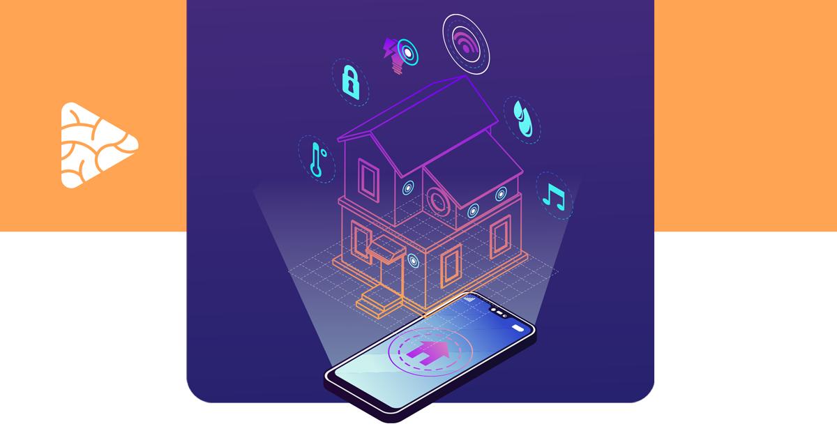 imagem com o desenho de uma casa que representa o futuro das casas inteligentes com 5G